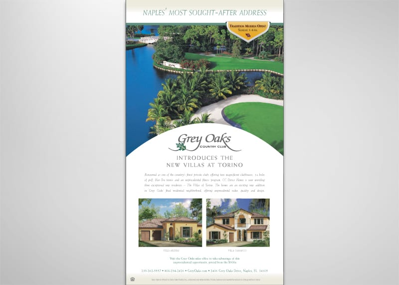 Grey Oaks Print Design