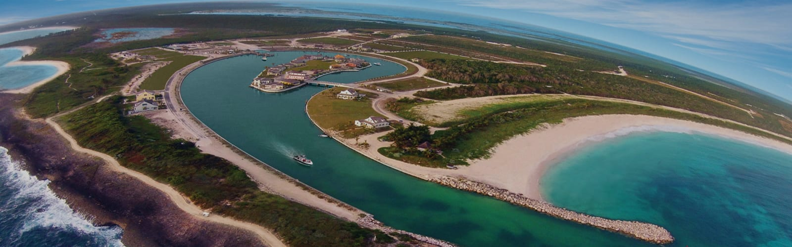Schooner Bay aerial