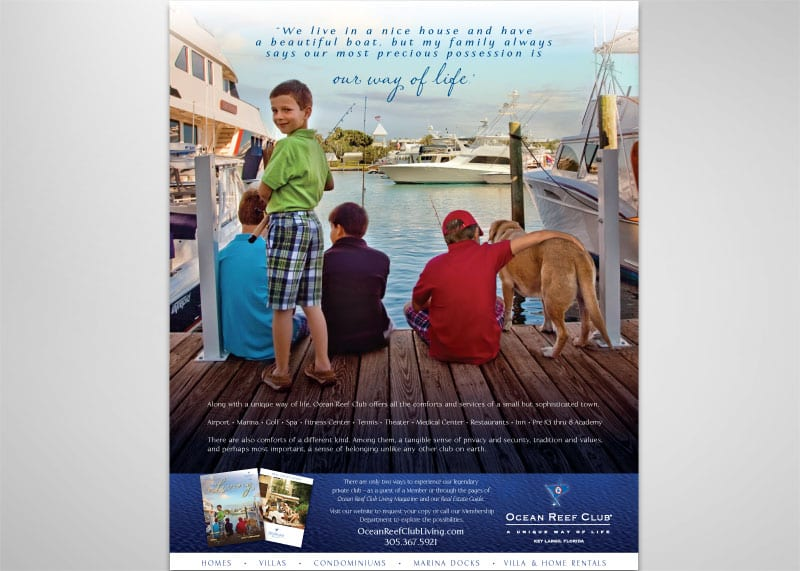 Ocean Reef Club Print Design