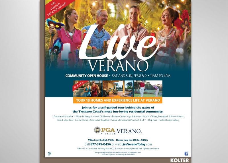 PGA Village Verano Print Design