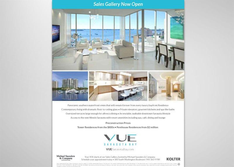 VUE Sarasota Bay Print Design