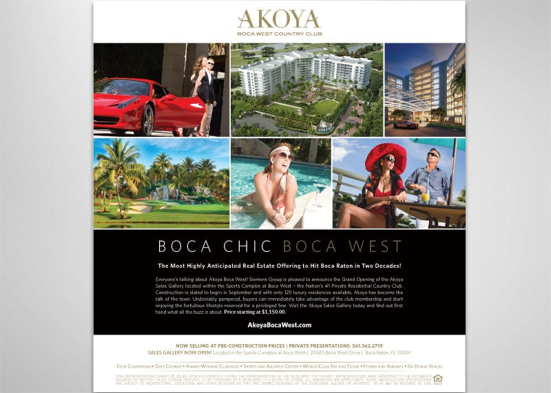 Akoya Boca West Print Design