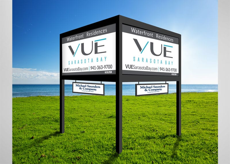 VUE Sarasota Bay Branding Design