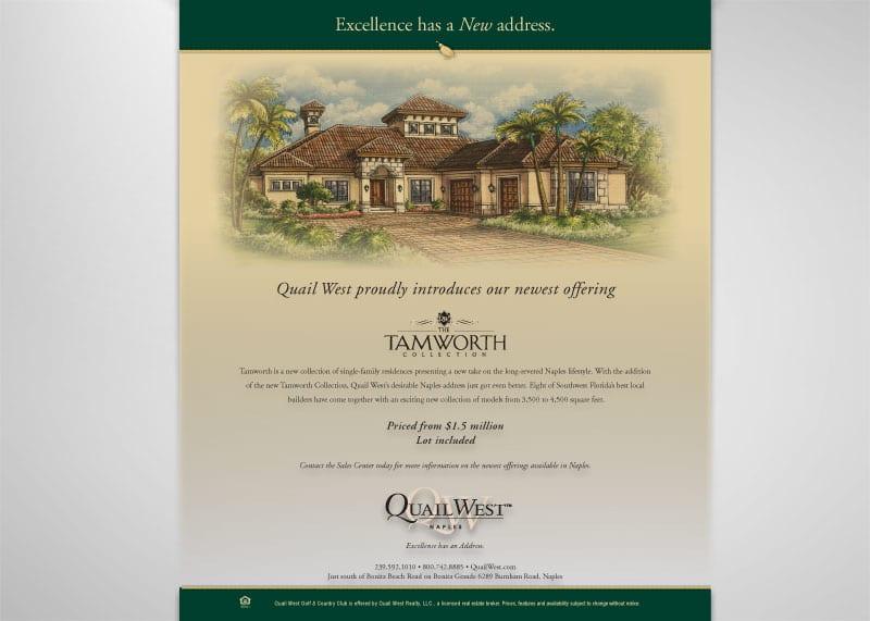Quail West Country Club Print Design