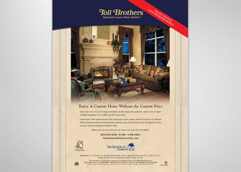Toll Brothers Print Design