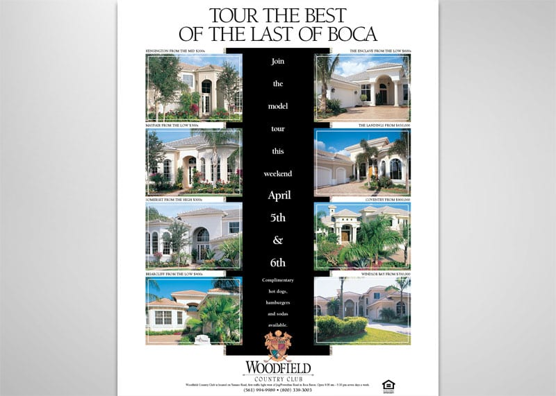 Woodfield Country Club Print Design