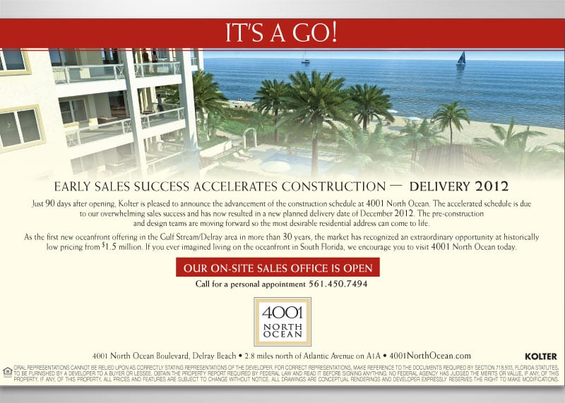 4001 North Ocean Print Design