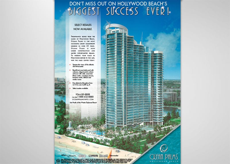 Ocean Palms Print Design