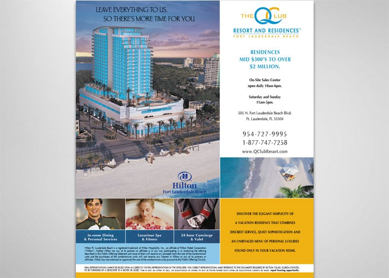Q Club Resort Print Design