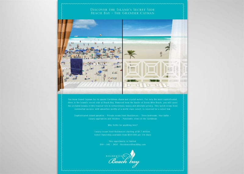Residences at Beach Bay Print Design