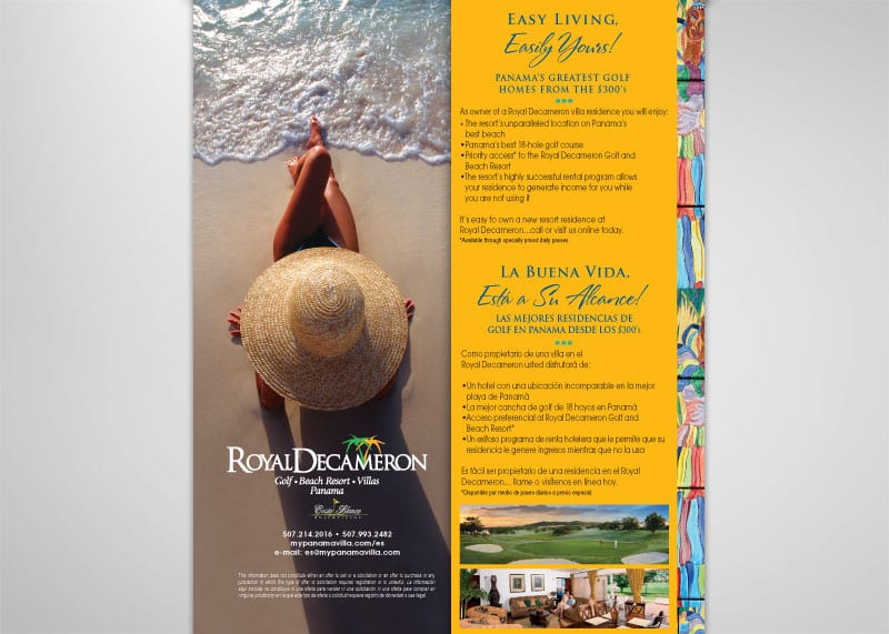 Royal Decameron Print Design
