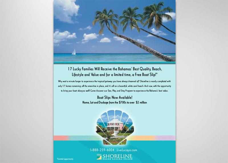 Shoreline Grand Bahama Print Design