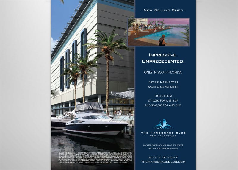 The Harborage Club Print Design
