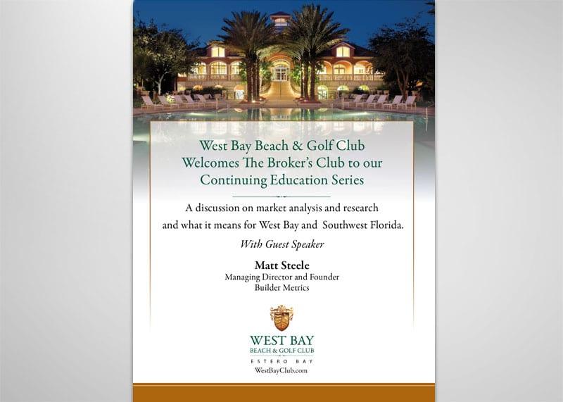 West Bay Beach & Golf Club Print Design