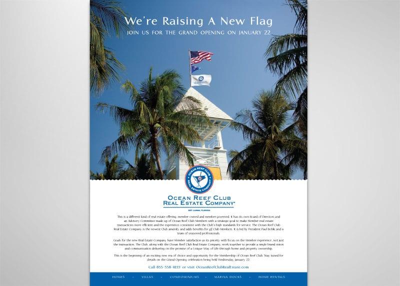 Ocean Reef Club Real Estate Company Print Design
