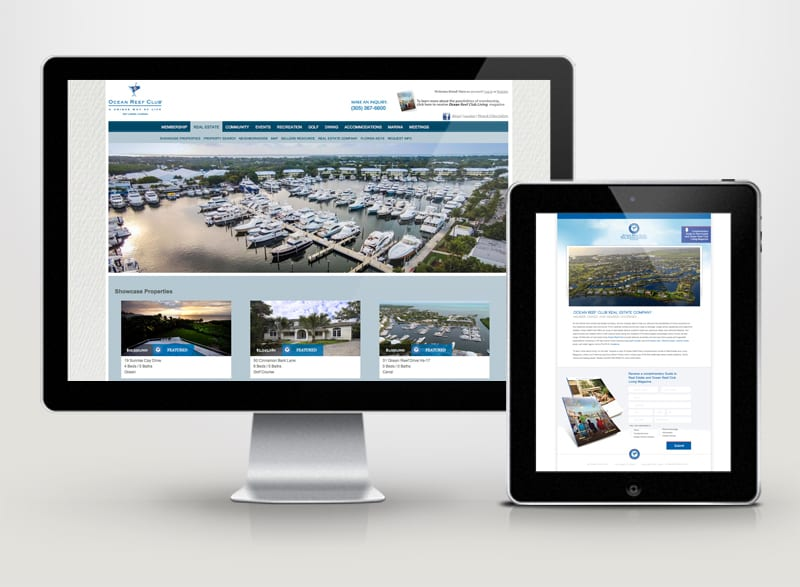 Ocean Reef Club Real Estate Company Digital Design
