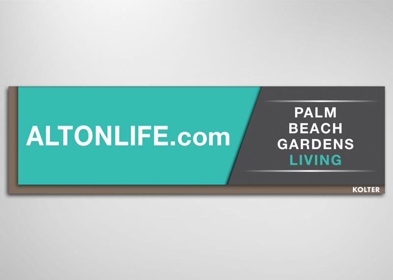 Alton Palm Beach Gardens Print Design