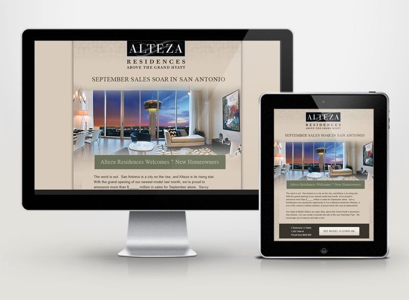Alteza Residences Above the Grand Hyatt Digital Design