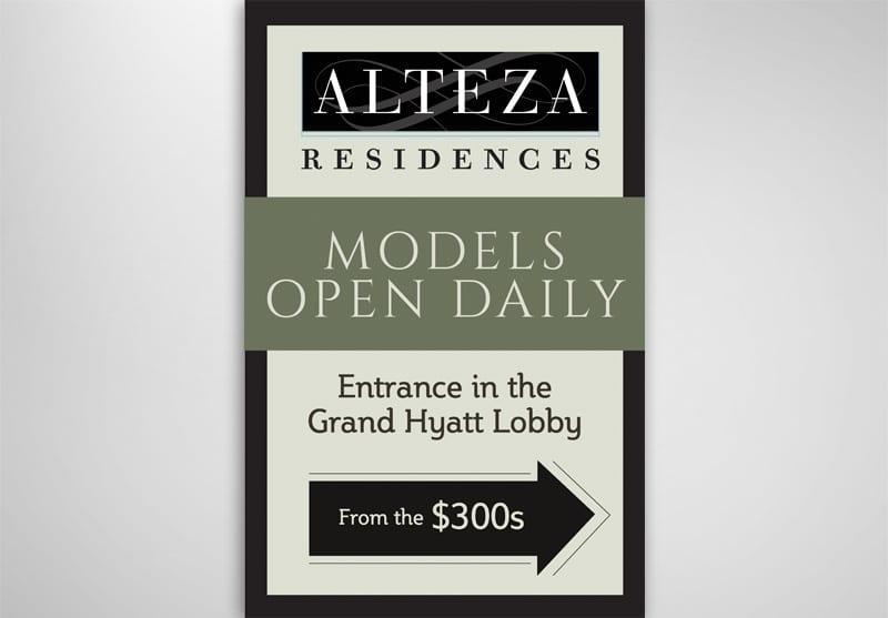 Alteza Residences Above the Grand Hyatt Print Design
