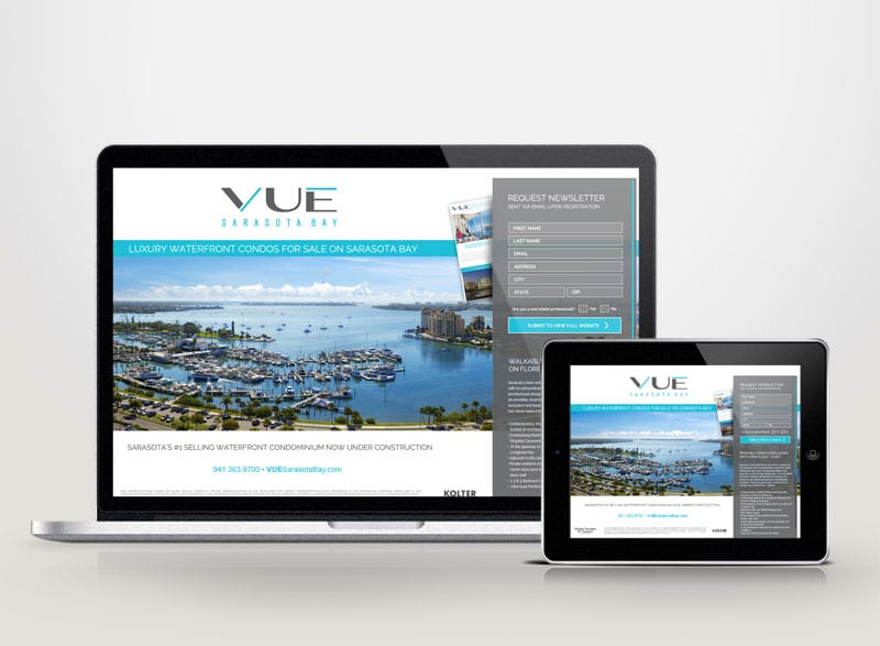 VUE Sarasota Bay Digital Design