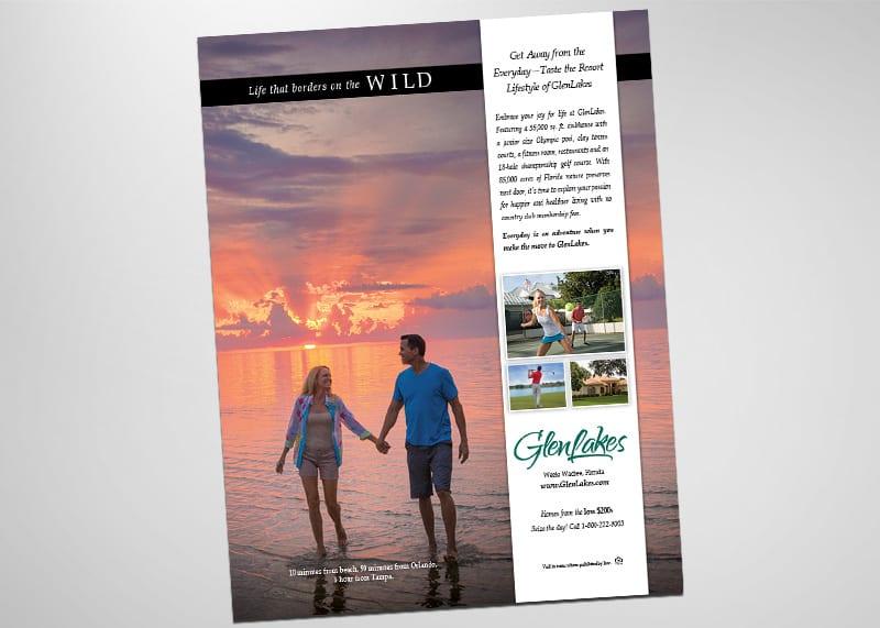 GlenLakes in Weeki Wachee Print Design