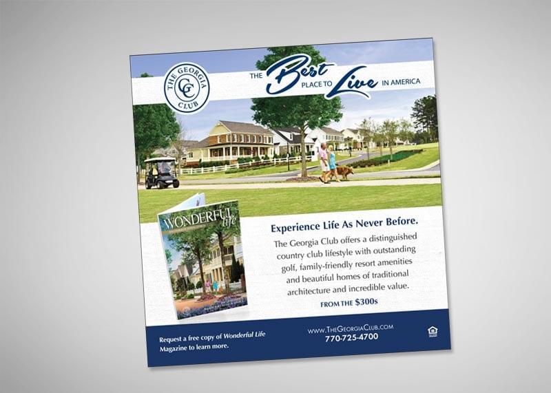 The Georgia Club Print Design