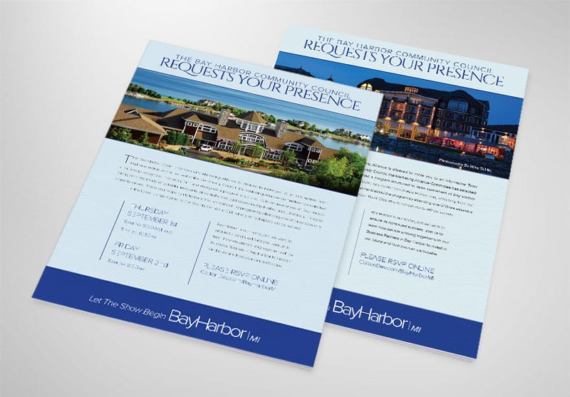 Bay Harbor Print Design