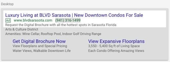 Desktop Google Search Advertising