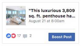 Sample Facebook Right Column Ad for BLVD Sarasota