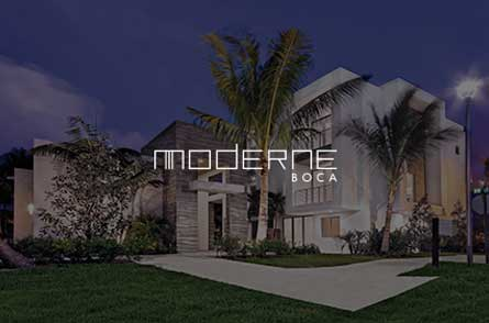 Cotton and Company client, Moderne Boca in Boca Raton Florida
