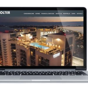 Kolter's New Website Displayed on a Mac Laptop