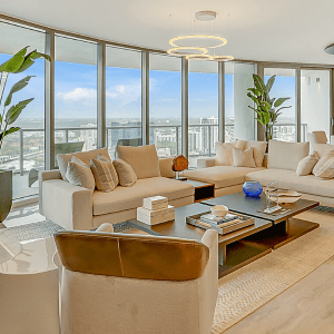 Interior condo at 100 Las Olas