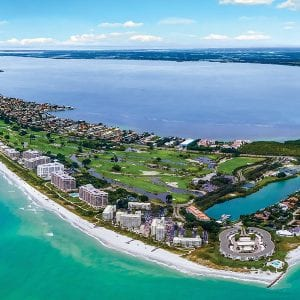 aerial of longboat key florida
