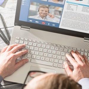 hands on a keyboard representing digital marketing